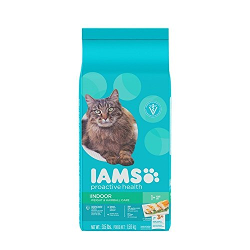 IAMS PROACTIVE HEALTH Indoor Weight and Hairball Care Dry Cat Food 3.5 Pounds (Pack of 2)