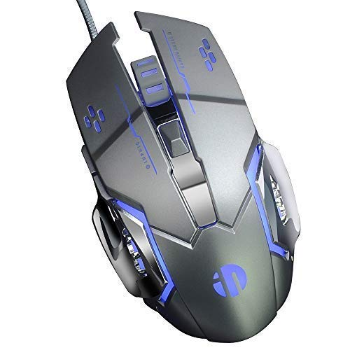 - inphic PC Gaming Mouse USB Wired 6 Programmable Buttons Game Mice for DELL,HP Computer/Laptop with Windows/XP Vista /, 5 Adjustable DPI Levels, Breathing LED Light,