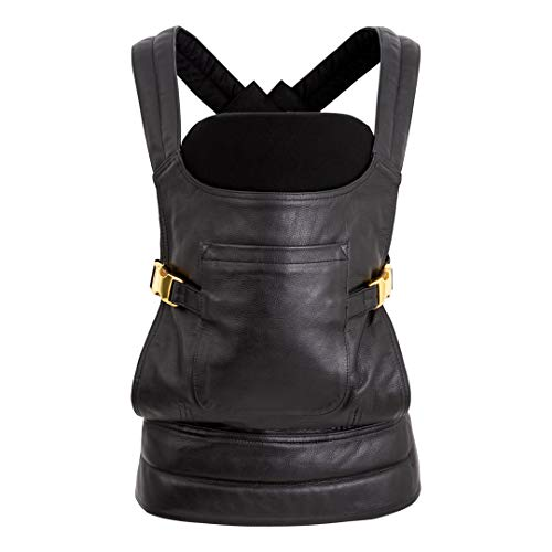 (The BAE Luxe Leather Baby Carrier by Leather Baby Co (Black Leather with Black Lining/Insert))