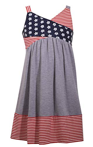 Bonnie Jean Girl's 4th of July Dress - Americana Sundress for Toddlers, Little and Big Girls -