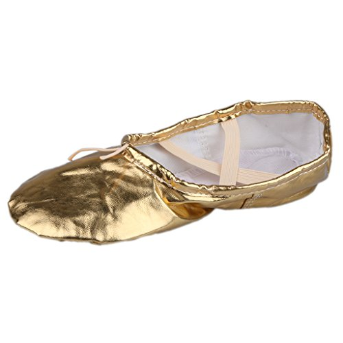 シャンパン処分した改修するLovoski 女性 女の子 バレエ ポアント 体操 ダンス ヨガ シューズ 靴 ソフト ギフト 全2色5サイズ選べる
