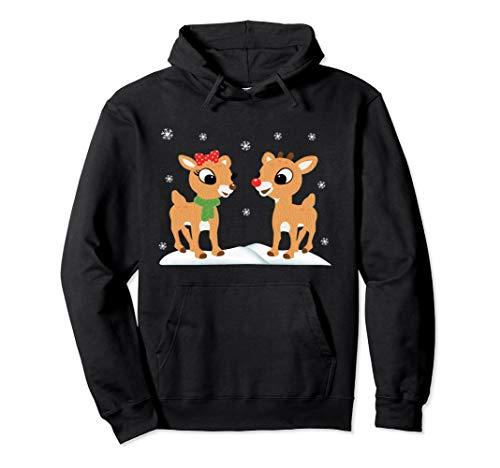 Rudolph and Clarice Hoodie Christmas Kids Girls -