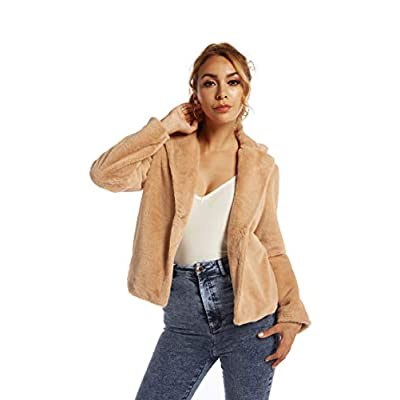 SUGAR POISON Womens Faux Fur Jacket Spring Autumn Long Sleeve Soft Comfort Jacket Coats Parka Outwear at Women's Coats Shop