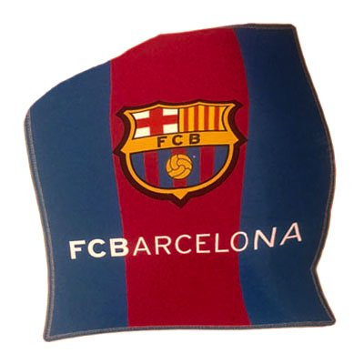 Official FC Barcelona Stripe Fleece Blanket by GiftLocalUK