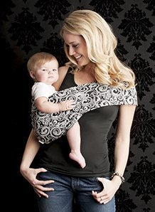 Everyday Baby Sling (Seven Everyday Slings Baby Carrier Sling Color Black/White Indy Size 2/XSmall)