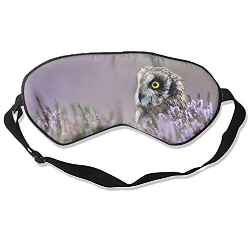Profile Lite Mask - 3D Sleep Mask,Owl Lavender Profile Bird Flowers Eye Mask Custom Funny Design, Super Smooth Memory Foam, Maximum Light Blocking & Adjustable Strap