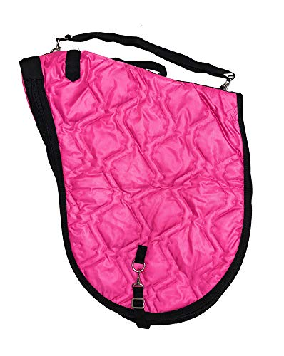 AJ Tack Wholesale English Horse Saddle Carrier Travel Case Bag All Purpose Saddle Quilted Hot Pink ()