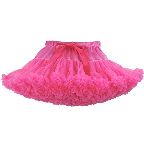 (Luckyauction Toddler Girl's Dance Tutu Skirts Layered Ballerina Princess Tutu Skirt,Rose S)