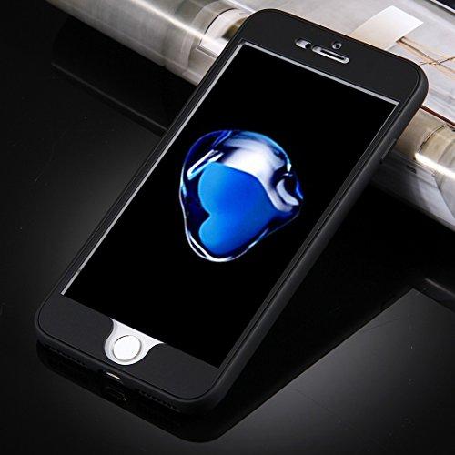 MXNET Iphone 7 Plus Fall, 360 Grad Vollschutz Soft TPU Rückseitige Abdeckung + PC Front Kombinationsetui CASE FÜR IPHONE 7 PLUS ( Color : Black )