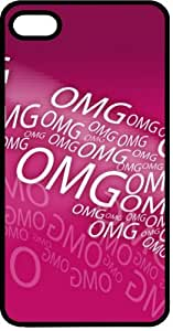 OMG Oh My God Pink & Loud Tinted Rubber Case for Apple iPhone 5 or iPhone 5s