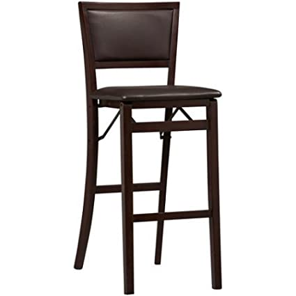 Swell Amazon Com Modern Designed Padded Back Folding Bar Stool Bralicious Painted Fabric Chair Ideas Braliciousco