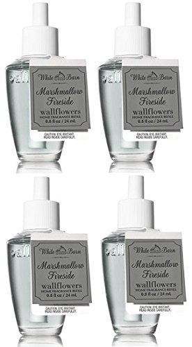 Bath and Body Works 4 Pack Marshmallow Fireside Wallflower Fragrance Refill 0.8 Oz