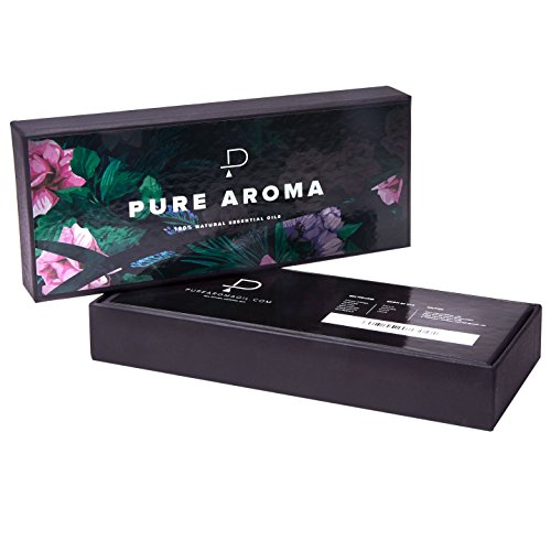 Essential oils by PURE AROMA 100% Pure Therapeutic Grade Oils kit- Top 6 Aromatherapy Oils Gift Set-6 Pack, 10ML(Eucalyptus, Lavender, Lemon grass, Orange, Peppermint, Tea Tree) by Pure Aroma (Image #4)