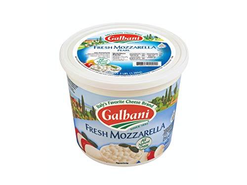 Galbani Fresh Mozzarella Pearl 4g, 3 Pound -- 2 per case. ()