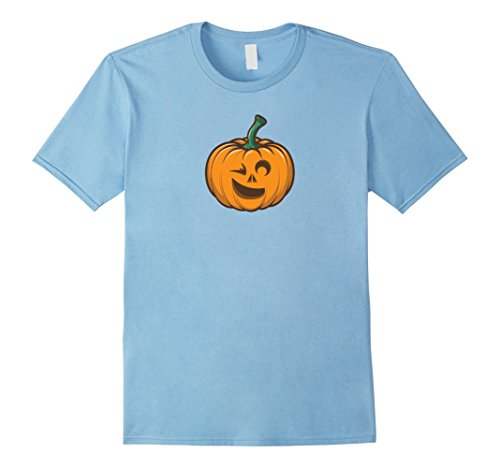 Costume Winking Emoji (Mens Pumpkin Winking Emoji Halloween Costume T-Shirt 3XL Baby)