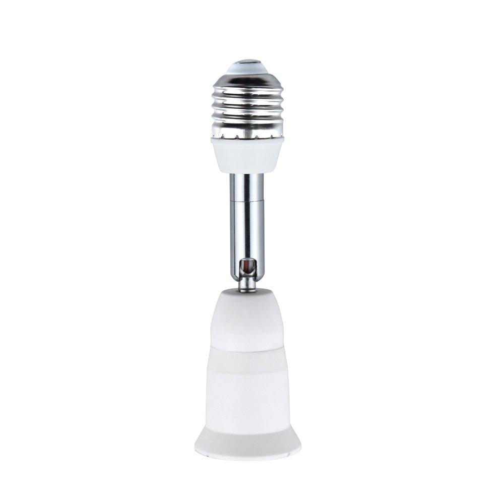 Bonlux E26/E27 Light Socket Extender Adapter, E26/E27 to E26/E27 Adjustable Extension, Flexible Medium Screw Base Light Bulb Socket Converter, Adjustable Vertical 90° Horizontal 360° (5-Pack) by Bonlux (Image #6)