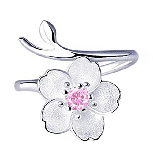 Freedi Women Open Rings Adjustable Flower Wedding Engagement Rings Fashion Jewelry Gift for Girls