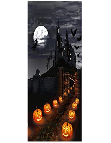 DIY Door Wall Mural Set, 78x35inch Halloween 3D Door Cover Mural Halloween Decoration (2#)
