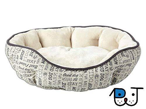 Cama para Cães e Gatos de Camurça Estampa Woof M