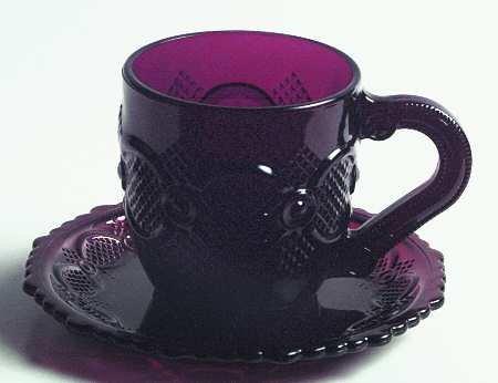 Avon 1876 (Cape Cod) Mug & Saucer - Ruby Pattern