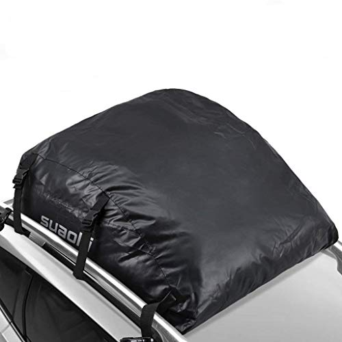 SUAOKI Car Top Carrier 100% Waterproof Roof Top Cargo Bag 15 Cubic Feet for Car Truck SUV Van with or Without Roof Rack
