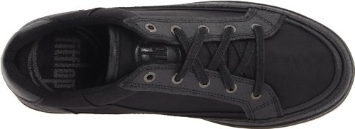 FitFlop Super - Nylon- Sneakers para mujer (Black Metal) Negro, talla 38