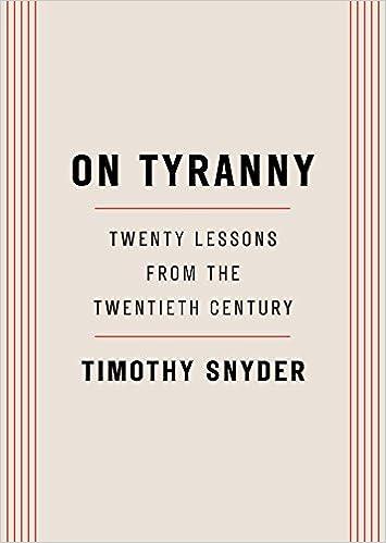 Snyder on tyranny