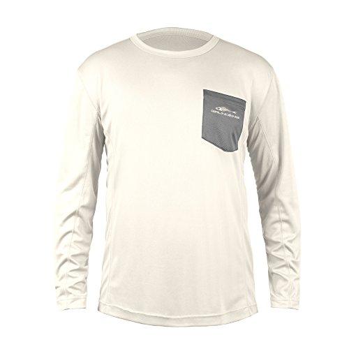 Grundens Men's Fish Head Performance Shirt, Egret - XL