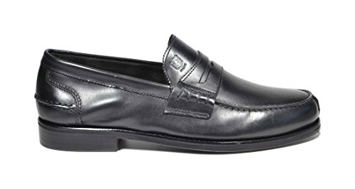 Of Loafer Scotland Nero College Pelle Fondo Mocassino Cuoio Saxone zqCIw4xdC