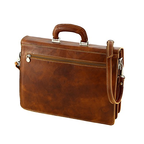 handle Brown Men's Tuscany Dark Bag Di Mega testa Top Moro 7wTtWPq
