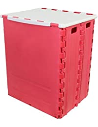 """<span class=""""a-offscreen"""">[Sponsored]</span>Foldable Storage Box (Pink)"""