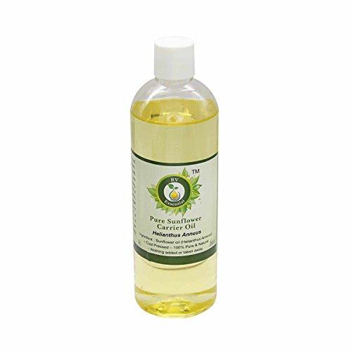 R V Essential Puro de girasol aceite del portador de 100ml (3.38 oz)- Helianthus annuus (100% puro y natural Fría...