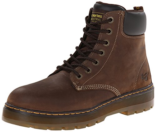 (Dr. Martens Men's Winch 7-eye Lace-up Steel-toe Dark Brown Boot, 9 M UK / 10 D(M) US)