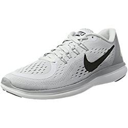 Women's Nike Flex 2017 RN Running Shoe Pure Platinum/Black/Wolf Grey/Cool Grey Size 8.5 M US