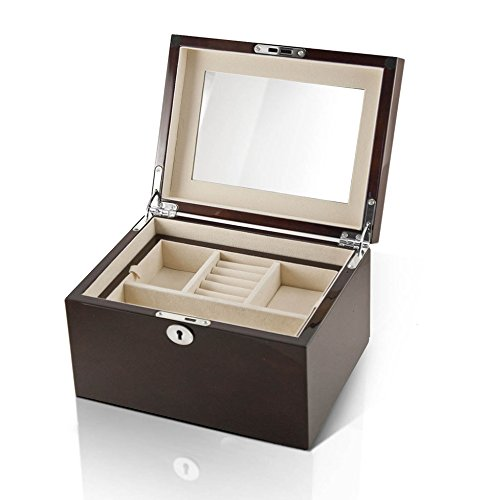 Modern Hi Gloss Coffee Tone 18 Note Music Jewelry Box - Can't Help Falling In Love with You by MusicBoxAttic (Image #2)'