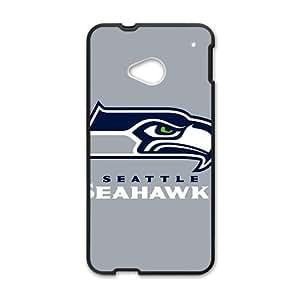 Custom Team Seattle Seahawks Logo Hard Plastic Case Cover for HTC One M7