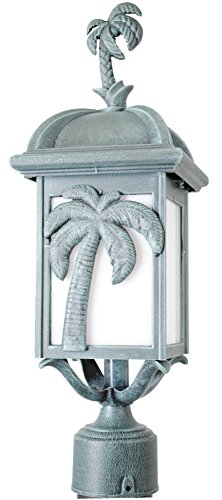 Melissa Lighting PT2930 Tropical/British Colonial Outdoor Post Lantern from Palm Tree Series Collection in Bronze/Darkfinish