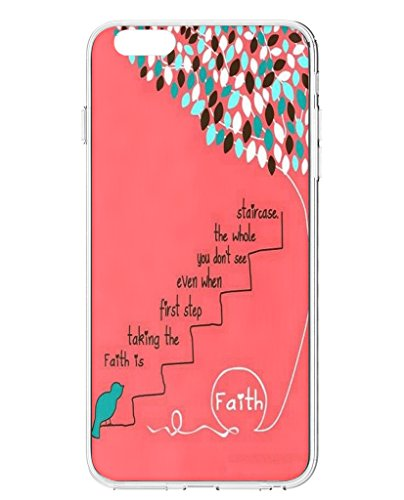 UKASE Hard Back Cases for iPhone 6 (4.7 inch) with Inspirational Life Quotes-Green Bird And Leaves -Faith Is Taking The First Step Even When You Don'T See The Whole Staircase