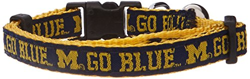 Pets First Collegiate Pet Accessories, Cat Collar, Michigan Wolverines, One Size