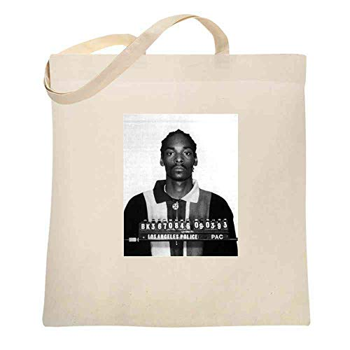 Mugshizzle Celebrity Mugshot Music Natural 15x15 inches Canvas Tote Bag]()