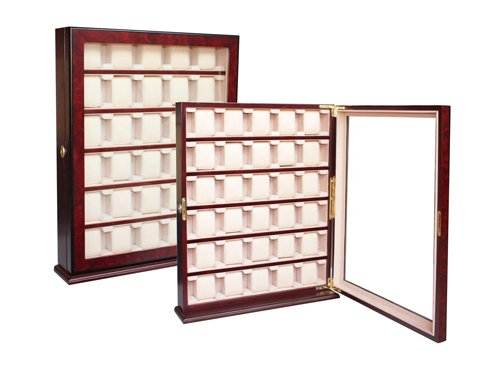 30 Piece Wood Watch Display Wall Hanging Case and Storage Organizer Box Stand 110030 by 4Less
