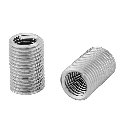 Threaded Insert, 50pcs Stainless Steel 304 Coiled Wire Helical Screw Thread Repair Insert Kit M6 x 1.0 x 3D Length, Wear-Resistance