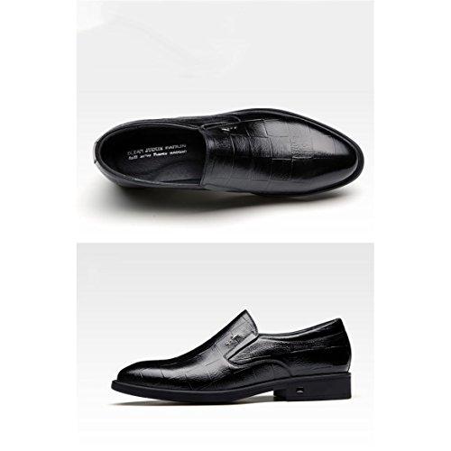 Hombres Moda Negro Caminar Zapatos otoño Para Boda Trabajo Primavera De Formales Cuero Negocios Cómodos EIEwxOSq