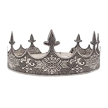 Amazon.com: SNOWH - Corona de plata envejecida para hombre ...