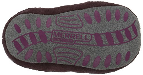 Merrell Jungle Moc Baby Crib Shoe (Infant/Toddler) Berry/Grey