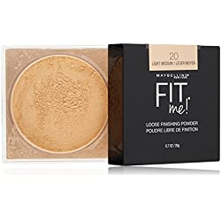 Maybelline New York Fit Me Loose Finishing Powder, Light Medium, 0.7 Ounce