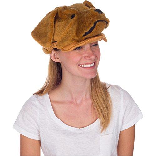 Golden Retriever Dog Animal Hat, Realistic Costume Headwear (Dog Costumes For Kids)