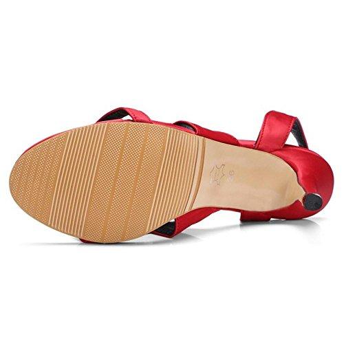 Hauts Red Taoffen Talons Femmes Sandales Xcn8TqAawR