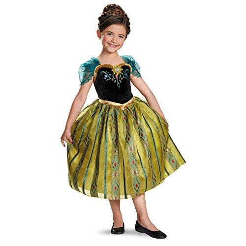 Disney's Frozen Anna Coronation Gown Deluxe Girls Costume (Disney Frozen Costume)