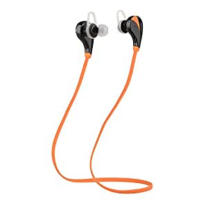 Intcrown S520 Wireless Bluetooth Headphones Sport Earbuds for Running with Microphone with Noise Cancelling (Orange)